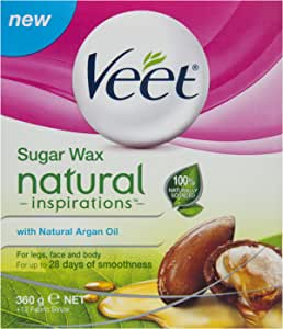Veet Natural Inspirations Argan Oil Warm Wax Hair Removal, 360g