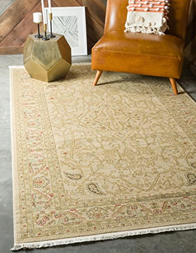 Unique Loom Edinburgh Collection Oriental Traditional French Country Cream Area Rug 10 6 x 16 5