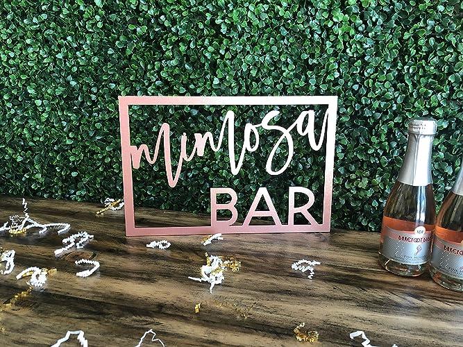 mimosa bar wood sign bubby bar champagne bar bridal shower bar sign wedding engagement