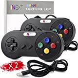 2 Pack iNNEXT SNES Retro USB Super Nintendo Controller Gamepad Joystick, USB PC Super Classic Controller Joypad Gamestick for Windows PC MAC Linux Android Raspberry Pi 3 Sega Genesis Higan