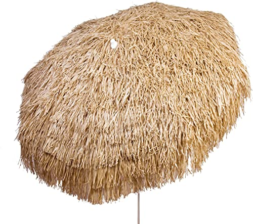 Heininger 1266 DestinationGear Palapa Tiki Brown 6 Patio Pole Umbrella