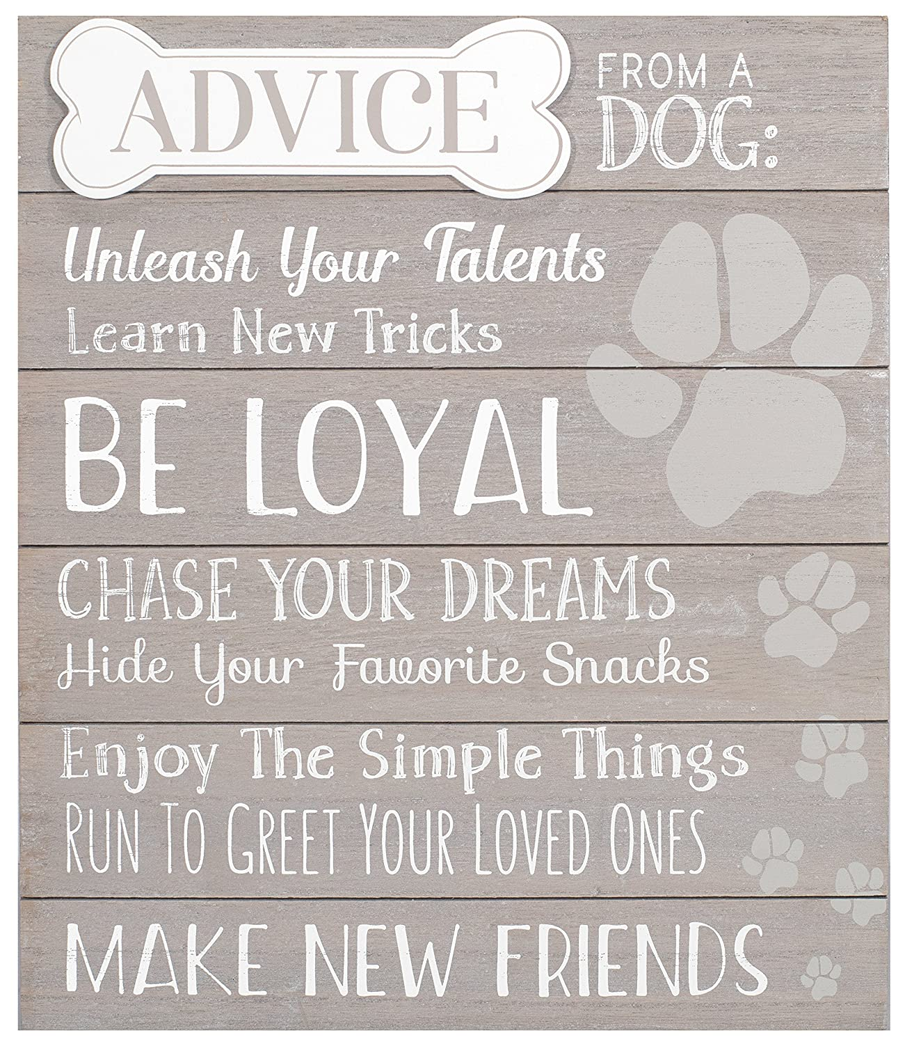 Malden International Designs 20078-01 at Home Dé cor Advice from A Dog, 12x14, Gray