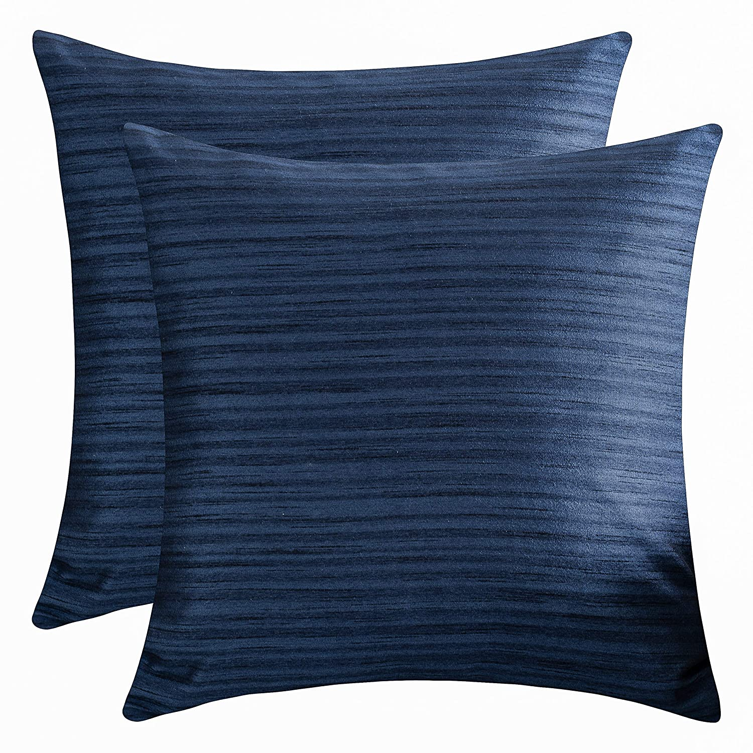 Amazoncom The White Petals Navy Blue Throw Pillow Covers Faux