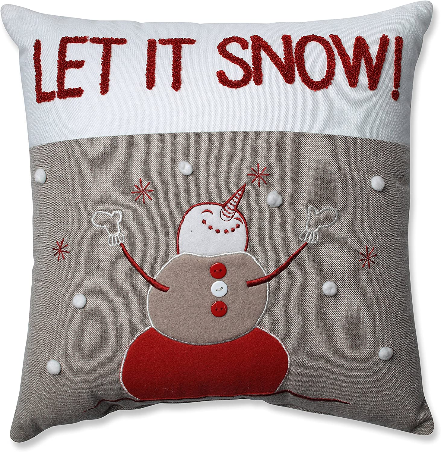 Amazon Com Pillow Perfect Country Home Snowman Throw Pillow Home Kitchen