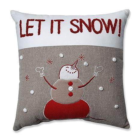 Amazon.com: Almohada casa de país perfecta muñeco de nieve ...
