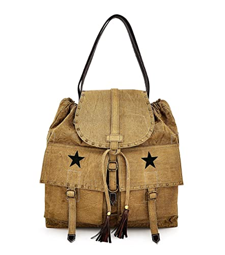 Amazon.com  Fashion drawstring Canvas backpack for Girls 021c3802a0666
