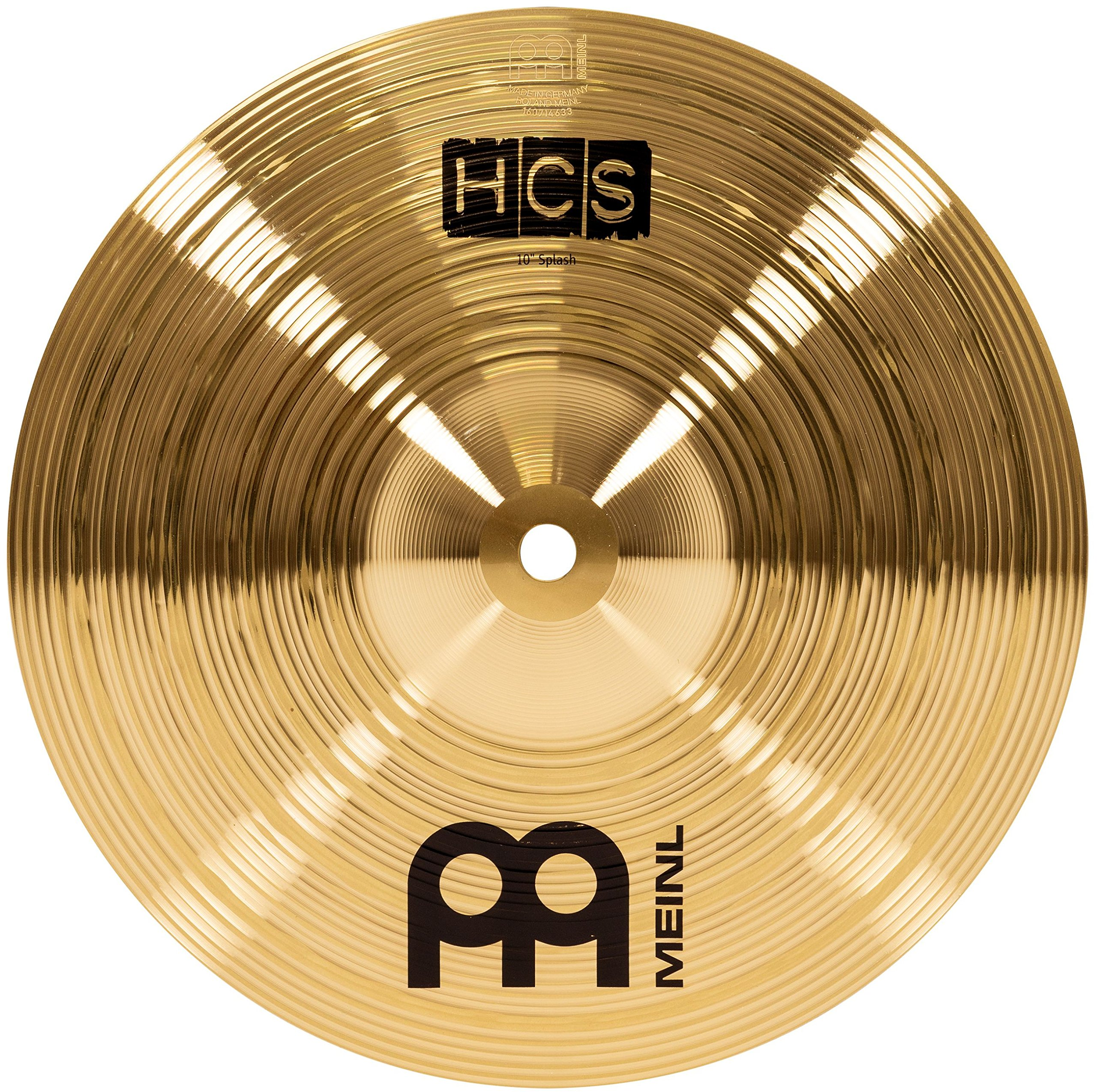 Meinl 10'' Splash Cymbal - HCS Traditional Finish Brass for Drum Set, Made In Germany, 2-YEAR WARRANTY (HCS10S) by Meinl Cymbals
