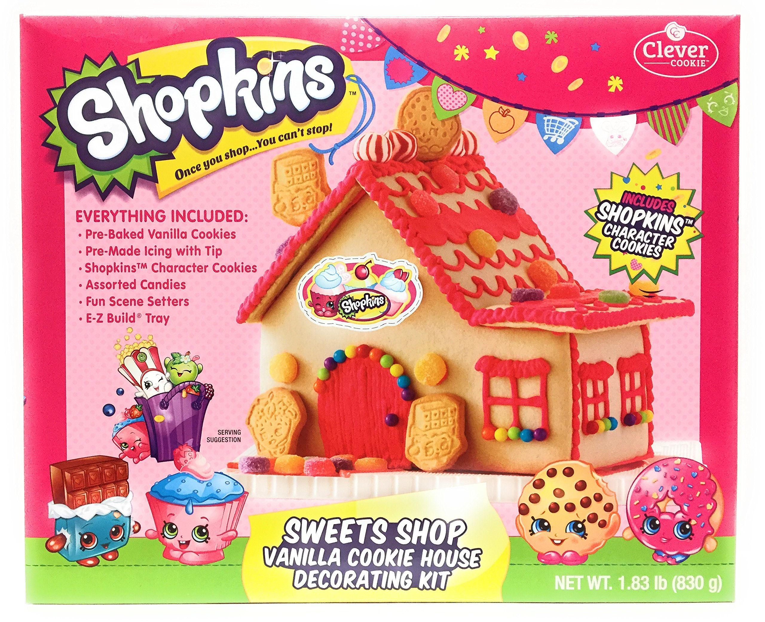 Shopkins Sweets Shop Vanilla Cookie House Decorating Kit