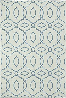 """product image for Capel Rugs Genevieve Gorder Elsinore Moor Rectangle Machine Woven Area Rug, 3' 11"""" x 5' 6"""", Blueberry"""