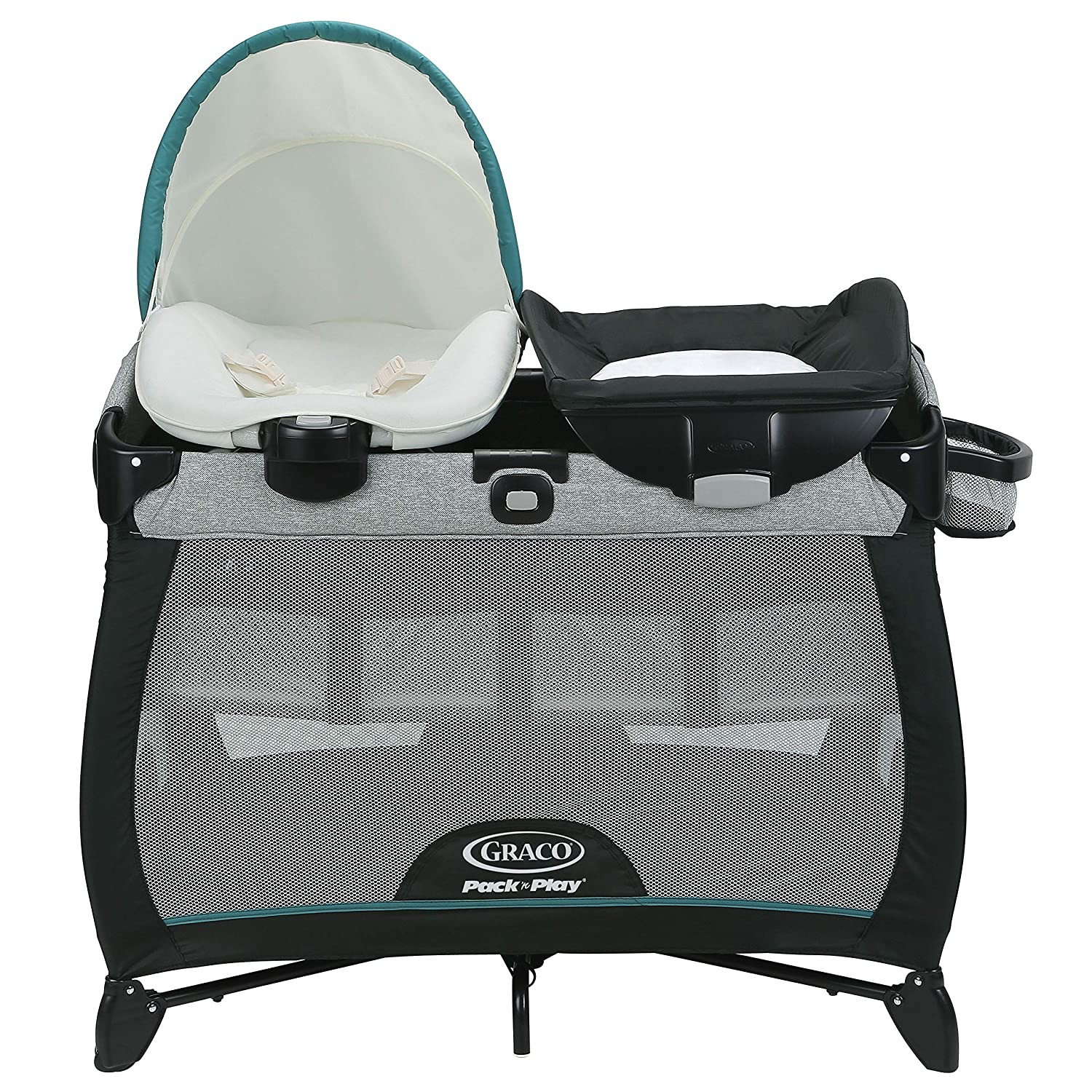 Graco Pack n Play Playard Quick Connect Portable Napper with Bassinet, Darcie