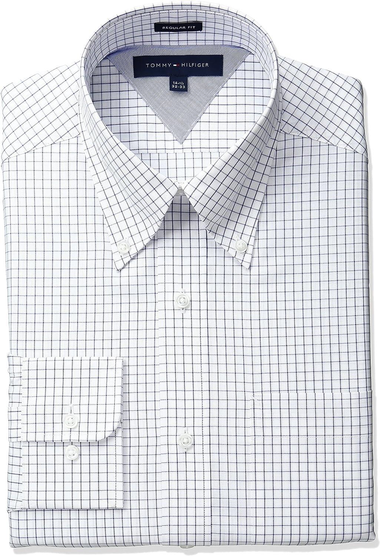 Tommy Hilfiger Mens Regular-fit Button Down Dress Shirt