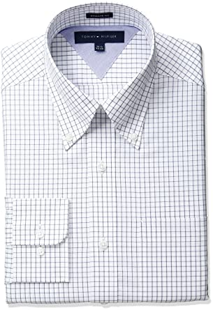 fa917262 Tommy Hilfiger Men's Regular Fit Tattersall Dress Shirt at Amazon Men's  Clothing store: Tommy Hilfiger Shirt Men Regular