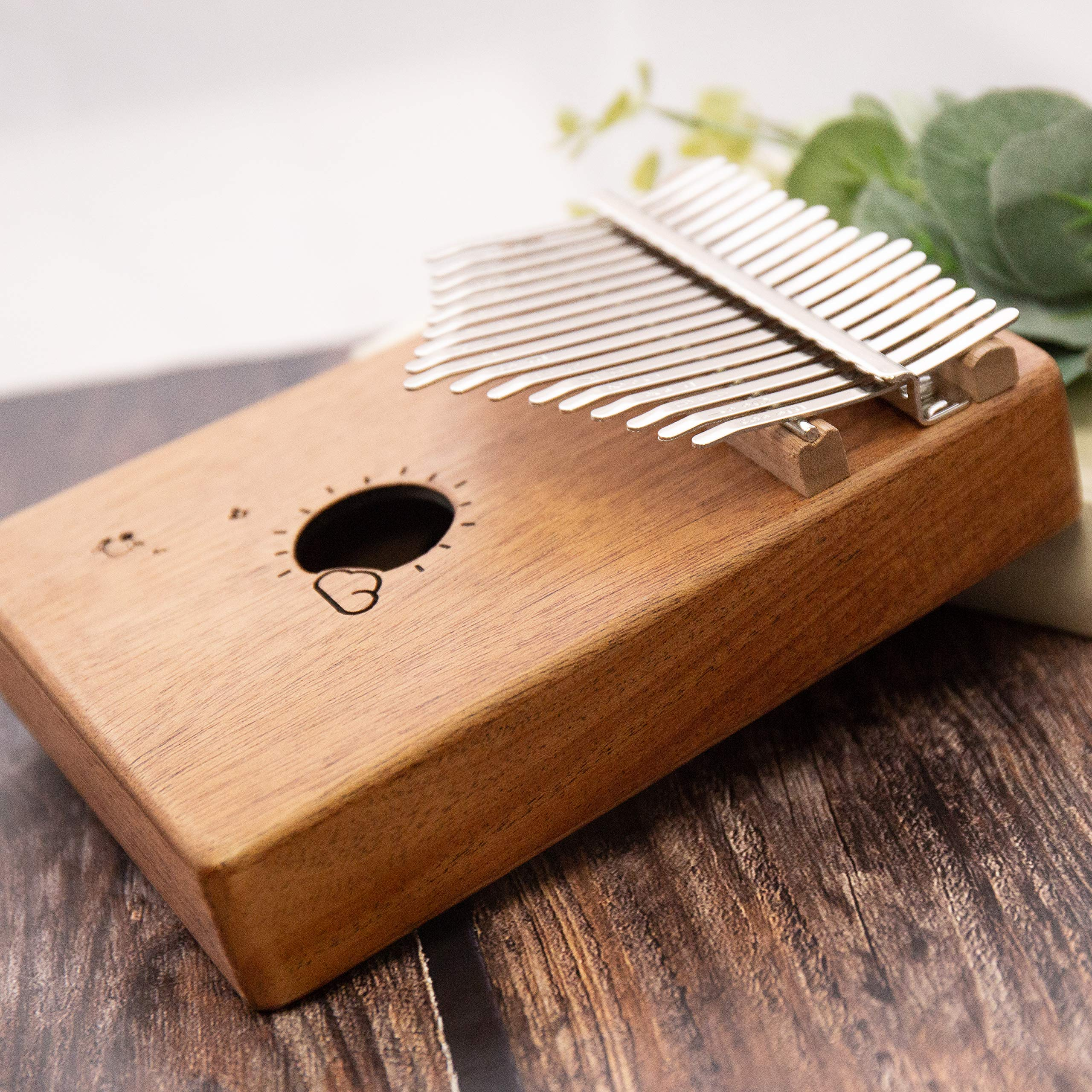Kalimba 17 Keys Thumb Finger Piano - Mbira - Solid Mahogany and Portable with Carrying Bag and Instructions by GSM Brands (Image #5)