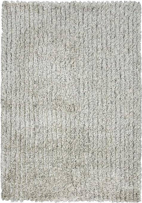 Amazon Com Rizzy Home Dora Collection Polyester Area Rug 5 X 7 6 White Gray Rust Blue Furniture Decor