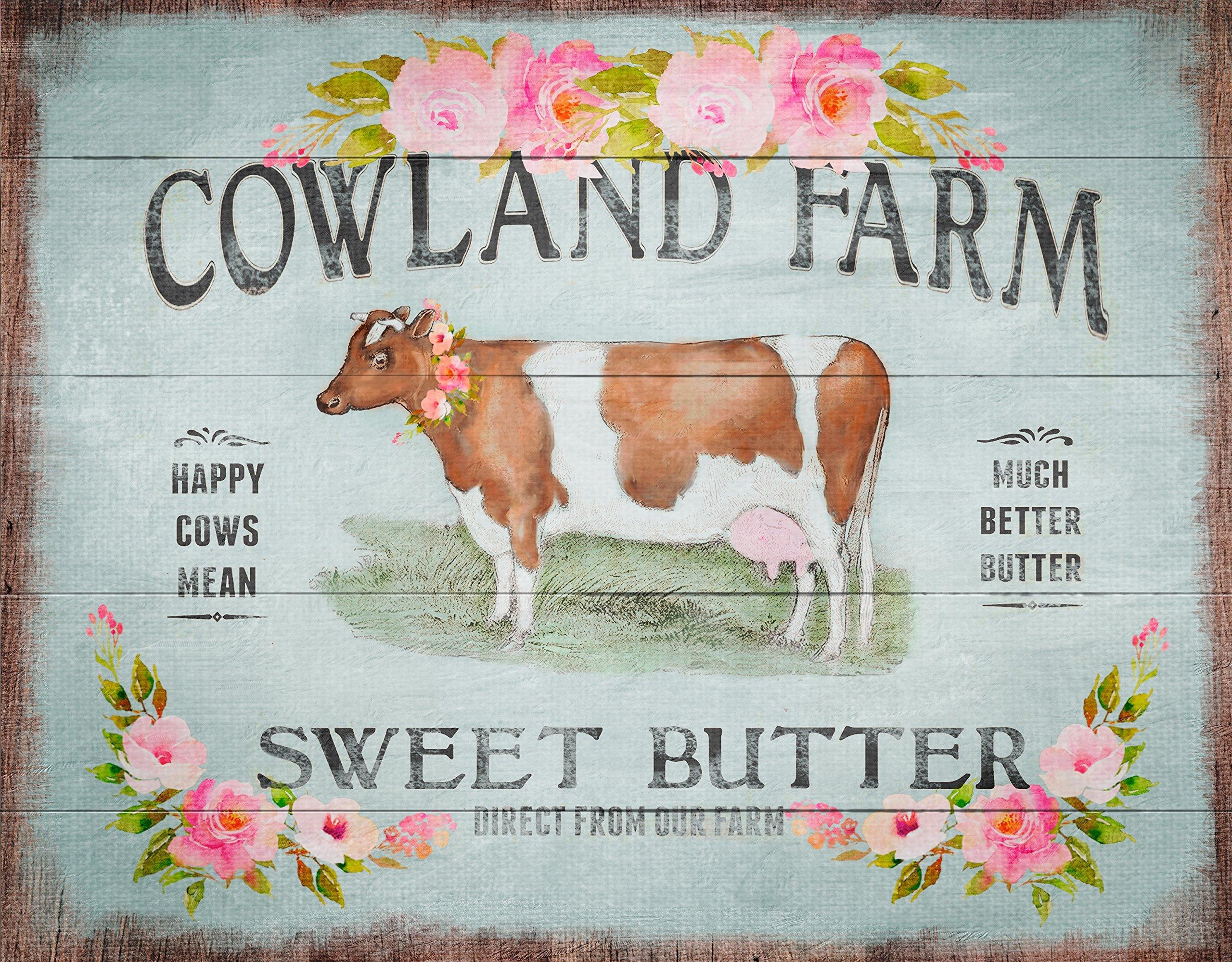 Cow Art, Wood Plank Art, Farmhouse Decor, Rustic Wall Art, Farm Art, Teal, Shabby, Gift For Her