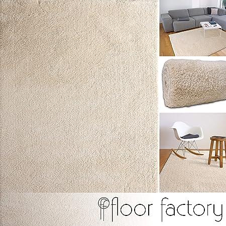 Uni Hochflor Teppich Shaggy Teppiche Flauschig Weich Taupe 200X290cm