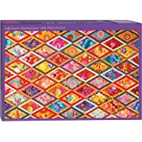 """Kaffe Fassett's Diamond Quilt Jigsaw Puzzle for Adults: 1000 pieces, Dimensions 29.5"""" x 19.7"""""""