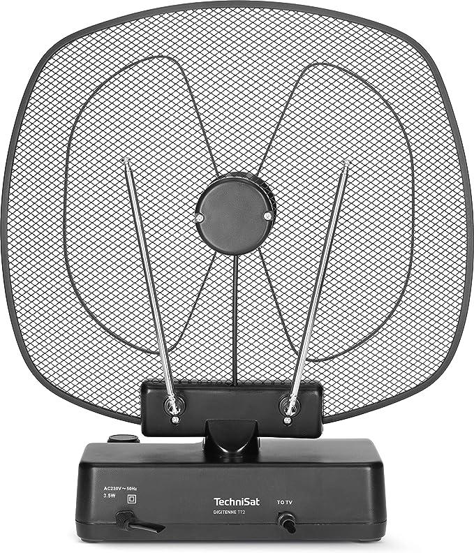 TechniSat Digitenna TT2 - Antena de Interior orientable (36 dB, amplificadora de Banda Completa con Filtro LTE4 para la recepción de señales ...