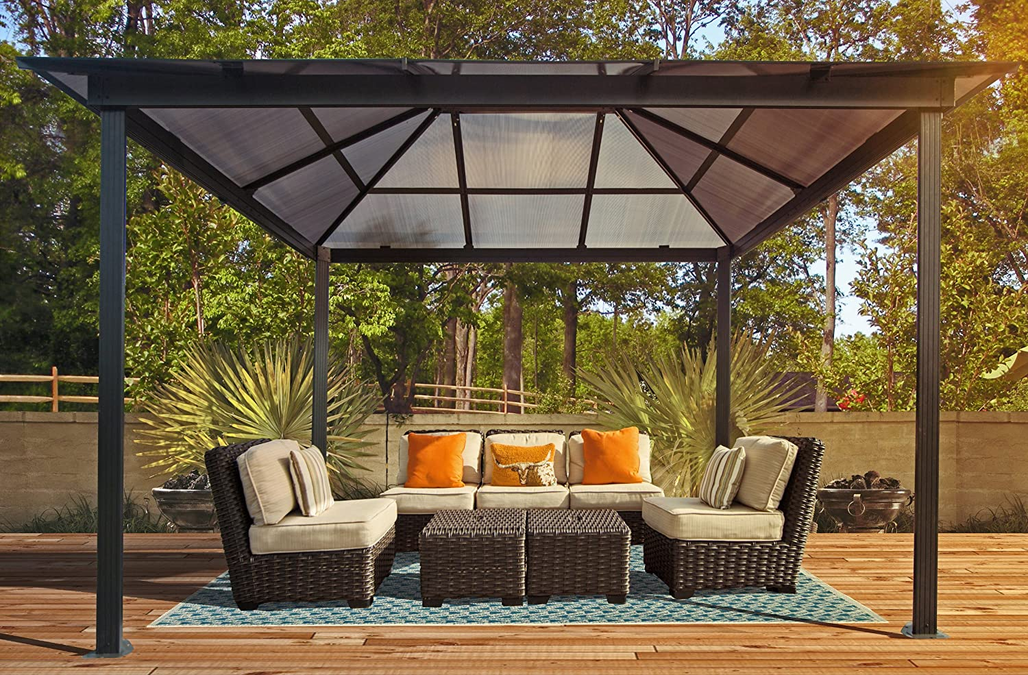 Amazon.com : STC Madrid Gazebo, 10 By 13 Feet : Pergola : Garden U0026 Outdoor