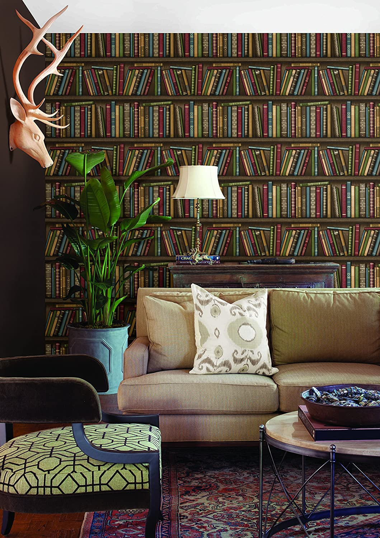 Librer/ía Wallpaper Marr/ón Brewster FD40545