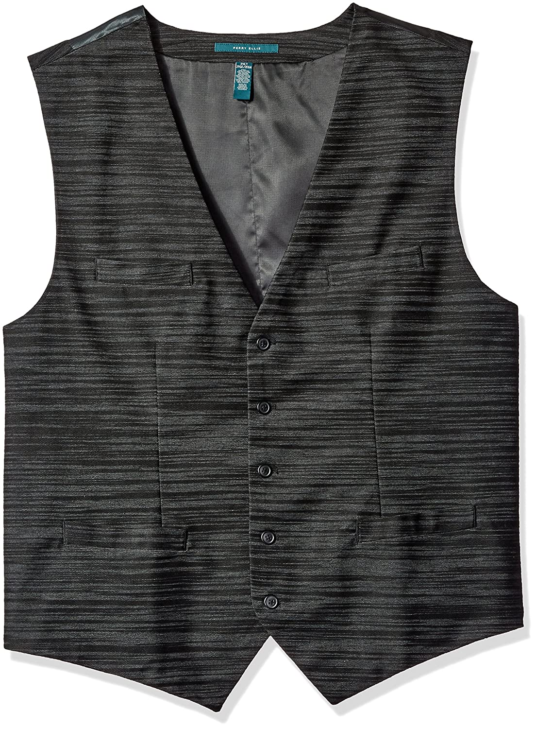 Perry Ellis Men's Big and Tall Stripe Vest 4BHV7607