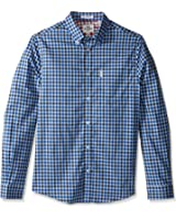 Ben Sherman Men's Long Sleeve House Gingham Button Down Shirt