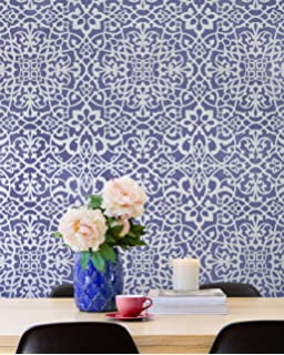 Palace Trellis Moroccan Wall Stencil For Painting A DIY Wallpaper Look