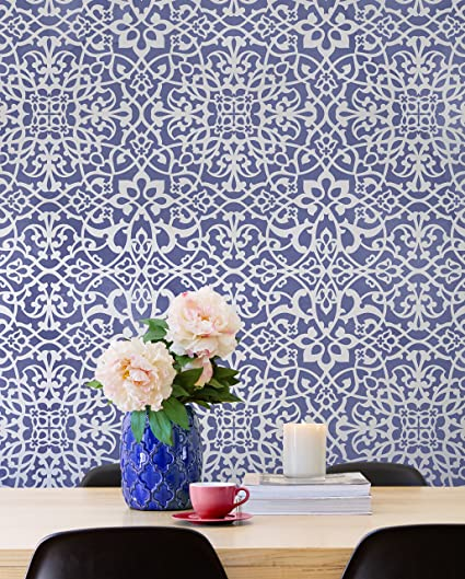 Amazon Com Palace Trellis Moroccan Wall Stencil For Painting