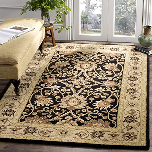 Safavieh Antiquities Collection AT249B Handmade Traditional Oriental Black Wool Area Rug 5 x 8