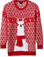 Blizzard Bay Men's Big and Tall Festive Llama Ugly Christmas Sweater