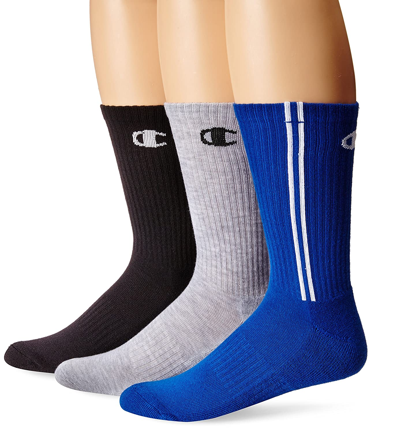 Champion No-Show Socks 6-Pack Double Dry Men/'s Shoe Size 6-12 Black or White