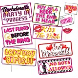 Discount Retail Bachelorette Party Photo Booth Props Kit - 10 Count Decoration Dress Up Accessories