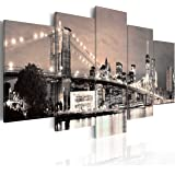 murando - Quadro 200x100 cm - 5 Parti - Quadro su tela fliselina - Stampa in qualita fotografica - New York 030202-11