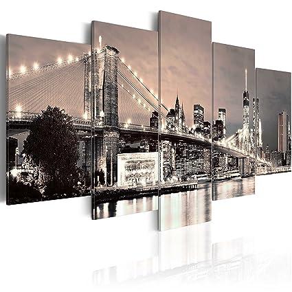 Murando Quadro 200x100 Cm 5 Pezzi Stampa Su Tela In Tnt Xxl Immagini Moderni Murale Fotografia Grafica Decorazione Da Parete New York 030202 11