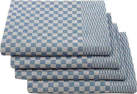ZOLLNER 10 Strofinacci A Quadretti Bianchi E Blu in Altri Colori 50x70 cm