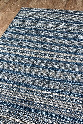 Novogratz Villa Collection Tuscany Indoor Outdoor Area Rug, 2 0 x 3 0 , Blue