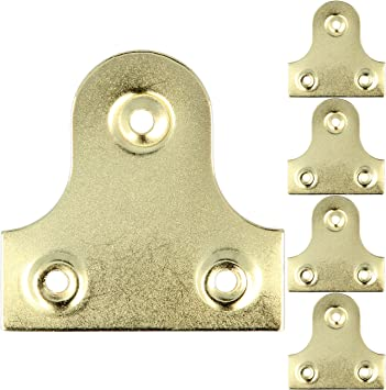Brassed Mirror Plate Picture Frame Hanging Plates Flat Bracket Display Hanger