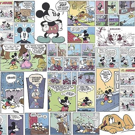 Dandino DY 3011 1 Wallpaper With Classic Mickey Design Multicoloured 60 X 18