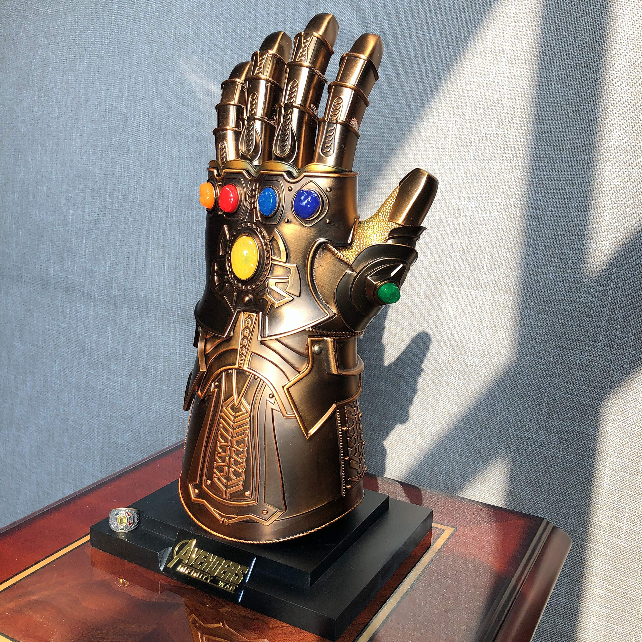 Thanos Infinity Gauntlet Full Metal 1:1 Wearable Cosplay Replica Magnetic LED Bronze by LowkyStar