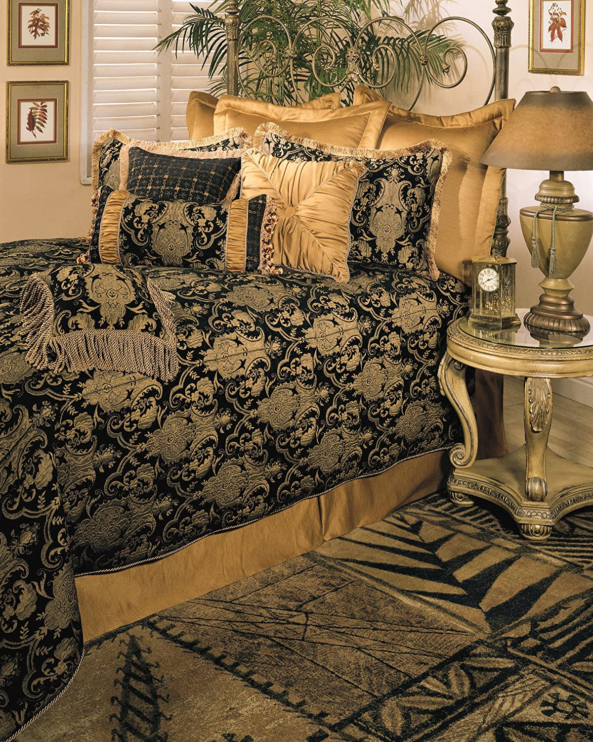 bedding big flower comforter art in from purple warm cover sets duvet item series size hemming thick garden home king