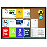 "Quartet Enclosed Cork Bulletin Board, 56"" x 39"" or"