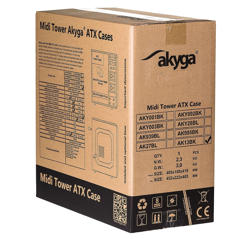 akyga ak13bk Bo/îtier PC ATX Noir