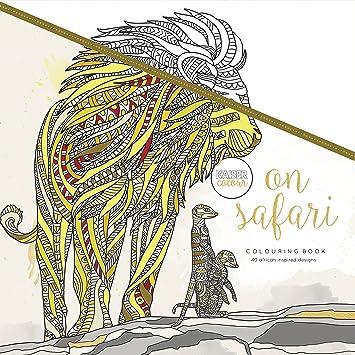 Amazon.com : Kaisercolour Perfect Bound Coloring Book-On Safari ...