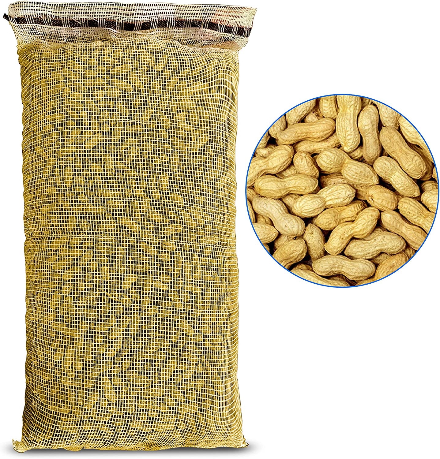 EasyGo Products 25lb Bag Pound Bag Animal Peanuts in-Shell. Peanuts for Squirrels, Birds, Deer, Pigs and A Wide Variety of Wildlife. Raw and Unsalted and Great for Parrots, Woodpeckers and Cardinals.