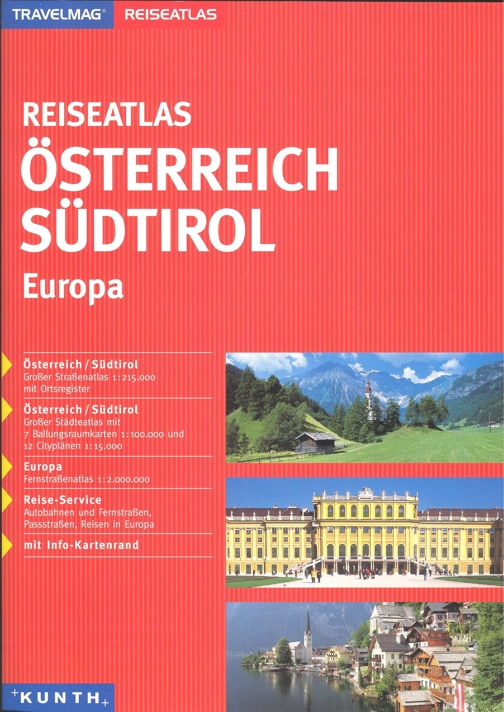 Download Austria & Northern Italy 1:215,000 Touring Atlas with city plans, KUNTH by Kunth Verlag (2007-05-04) ebook