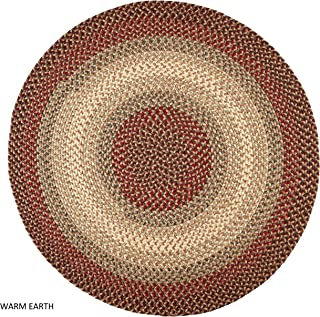 product image for Rhody Rug Ellsworth Indoor/Outdoor Reversible Braided Rug by Brown/Tan