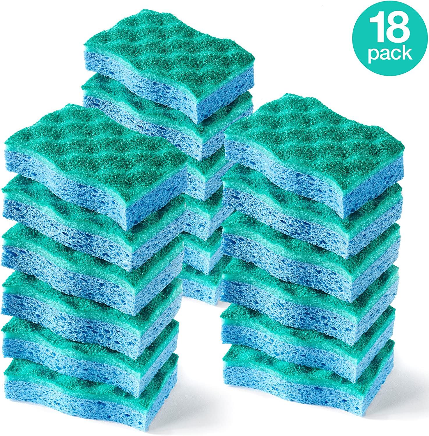 O-Cedar Multi-Use Scrunge Scrub Sponge (Pack - 18)