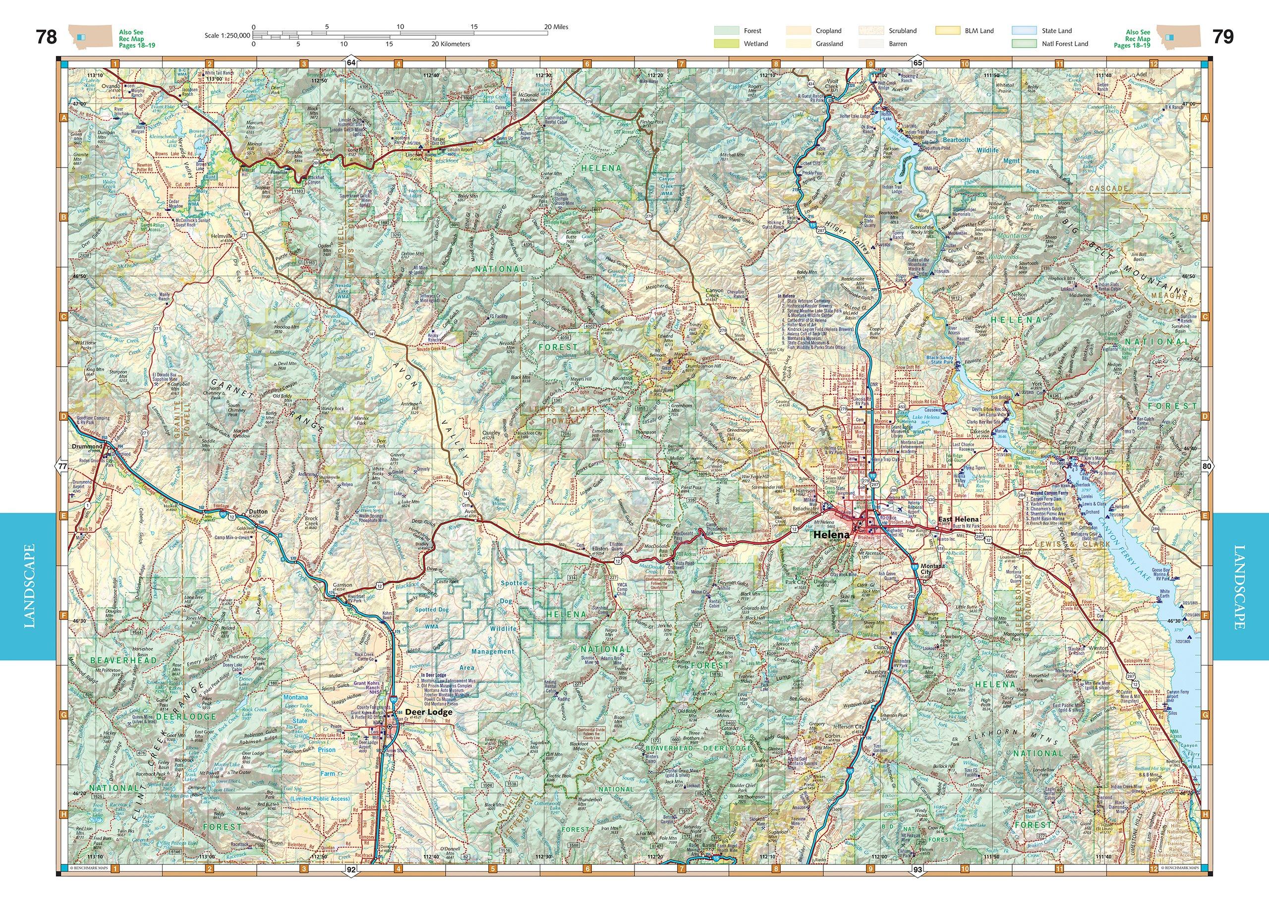 Montana Road & Recreation Atlas (Benchmark): Benchmark Maps ...