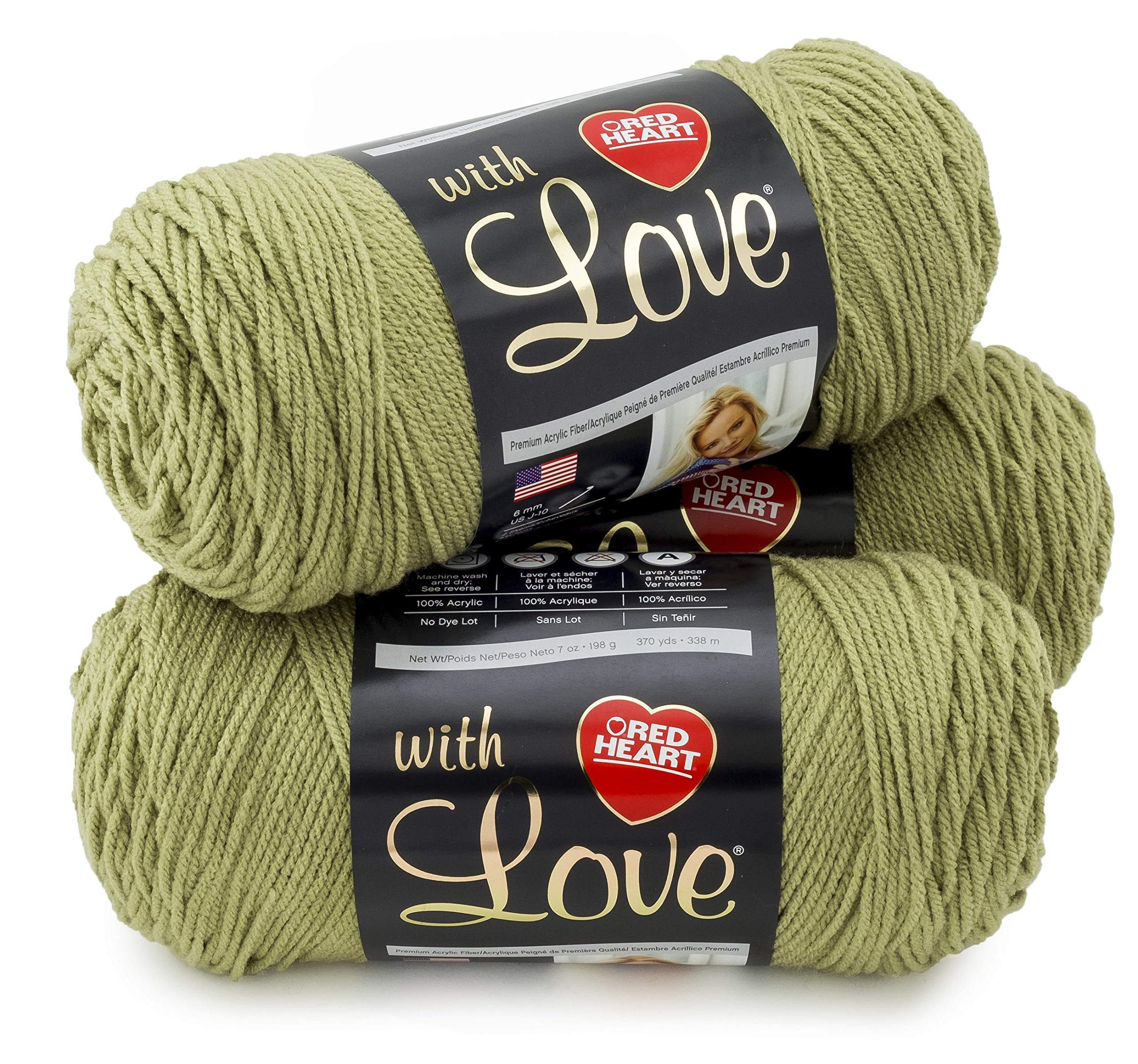 Red Heart E400PK.1601 With With Love 3 Pack, Lettuce