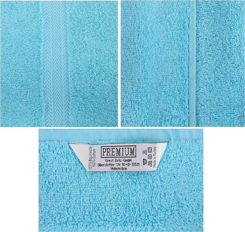 Duschtuch-Set Premium 100/% Baumwolle 2 Duschhandt/ücher 70x140 cm Farbe Ocean Betz 2-TLG